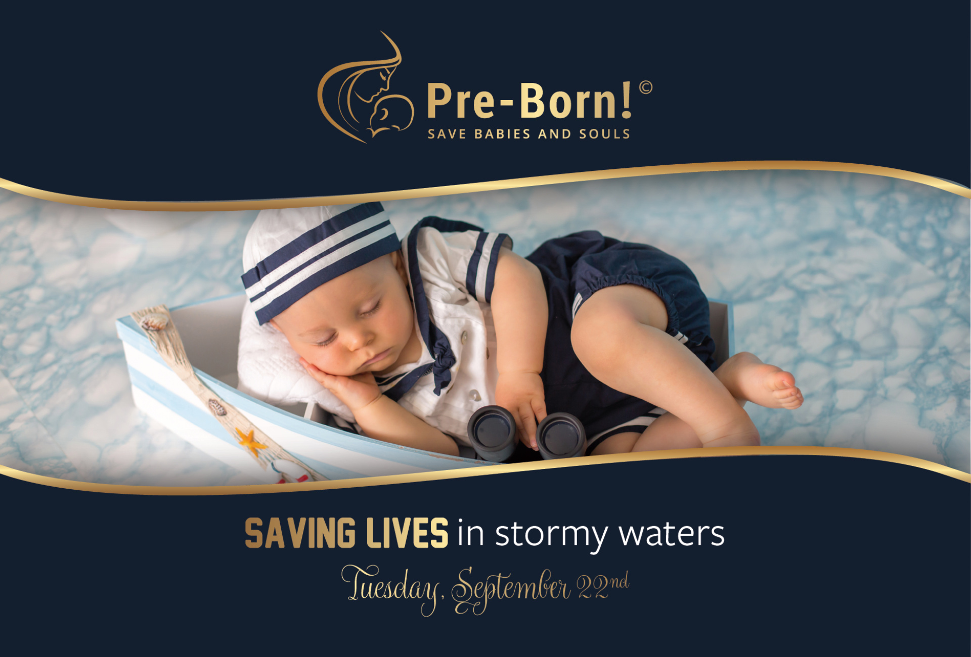 Saving Lives in stormy waters banner