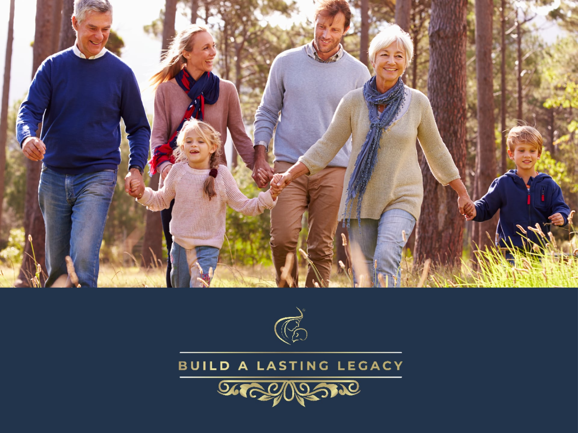Grandparents, Kids and Grand Kids Walking Together - Build a Lasting Legacy