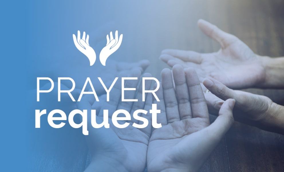 Prayer Request Banner - Hands Praying Together